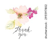 watercolor greeting card... | Shutterstock .eps vector #295597802
