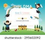 certificate kids diploma ... | Shutterstock .eps vector #295602092