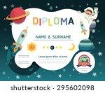 certificate kids diploma ... | Shutterstock .eps vector #295602098