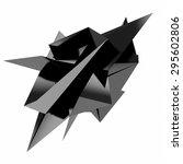 3d render of abstract geometric ...   Shutterstock . vector #295602806