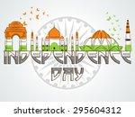 illustration of famous indian... | Shutterstock .eps vector #295604312