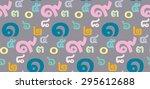 thai alphabet number seamless... | Shutterstock .eps vector #295612688