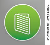document design icon on green...