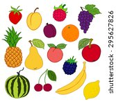 vector illustration  fruits and ... | Shutterstock .eps vector #295627826