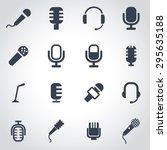 vector black microphone icon... | Shutterstock .eps vector #295635188