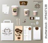 coffee shop corporate branding...   Shutterstock .eps vector #295637138