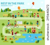 rest in the park infographic... | Shutterstock .eps vector #295640672