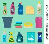 detergents vector set   Shutterstock .eps vector #295642715