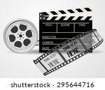 cinematography equipment... | Shutterstock .eps vector #295644716
