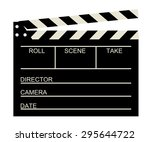 blank old cinema clapboard .... | Shutterstock .eps vector #295644722