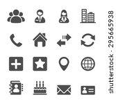 contact icon set  vector eps10. | Shutterstock .eps vector #295665938