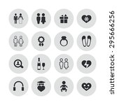 couple  love icons universal... | Shutterstock .eps vector #295666256