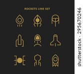 rockets outline logos set.... | Shutterstock .eps vector #295670246