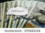 closeup of hundred dollar bills ... | Shutterstock . vector #295683236