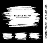 set of white scribble stains... | Shutterstock .eps vector #295685285