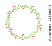 hand drawn abstract wreath ... | Shutterstock .eps vector #295686548