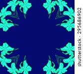 circular seamless  pattern of... | Shutterstock .eps vector #295686902