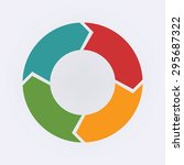 circular infographic template...   Shutterstock .eps vector #295687322