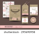 set of wedding cards.save the...   Shutterstock .eps vector #295690958