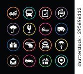 delivery icons universal set... | Shutterstock .eps vector #295696112