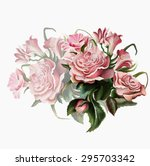 a luxurious bouquet of roses... | Shutterstock .eps vector #295703342