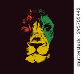 vector background with lion... | Shutterstock .eps vector #295705442