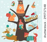 Christmas Card With Cute...