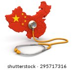 Map Of China With Stethoscope ...