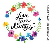 vector watercolor garland... | Shutterstock .eps vector #295718498