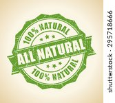 all natural green stamp | Shutterstock .eps vector #295718666