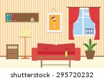 living room with furniture ... | Shutterstock .eps vector #295720232