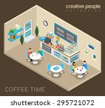 coffee time abstract cafe... | Shutterstock .eps vector #295721072