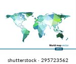green geometric world map... | Shutterstock .eps vector #295723562