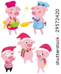 pigs collection illustration | Shutterstock . vector #29572420