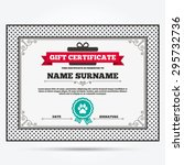 gift certificate. dog paw with... | Shutterstock .eps vector #295732736