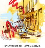 cafe bar | Shutterstock . vector #295732826