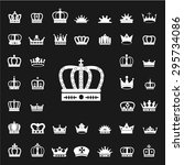 set of crown icons. white crown ... | Shutterstock .eps vector #295734086