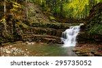 Carpathian Mountain River With...