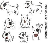 vector set of dog  bull terrier | Shutterstock .eps vector #295736582
