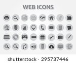 web icons set.business and... | Shutterstock .eps vector #295737446