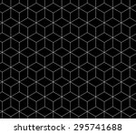 abstract geometry black and... | Shutterstock .eps vector #295741688