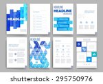 brochure design template set.... | Shutterstock .eps vector #295750976