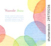 hand painted water color... | Shutterstock .eps vector #295755236
