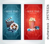 realistic cinema movie poster... | Shutterstock .eps vector #295755326