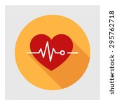 icon of heart and... | Shutterstock .eps vector #295762718