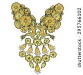 neckline embroidery fashion | Shutterstock .eps vector #295766102