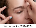 close up of female face during... | Shutterstock . vector #295769576