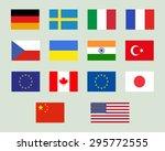 set of european union  usa ... | Shutterstock .eps vector #295772555