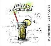 hand drawn poster with lemonade....   Shutterstock .eps vector #295772798