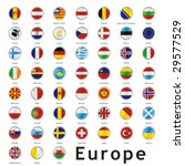 isolated european flags | Shutterstock .eps vector #29577529